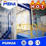 Cabina di brillamento di sabbia di Puhua con il modo della guida/stanze di brillamento scoppio/della strumentazione