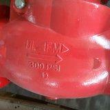 UL/FM 300psi는 벨브 Xqh-300 끝 흔들이 첵 플랜지를 붙였다