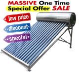 Calefator de água solar pressurizado térmico do coletor solar de câmara de ar de vácuo do calefator de água