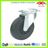200mm schwarzes Gummiabfall-Sortierfach-Fußrollen-Rad (D101-31C200X50)