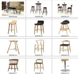 流行のEco-Friendly WoodenおよびLeather Upholstery High End Wood Bar Stool