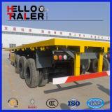 Q345 Kohlenstoffstahl-Tri Hochleistungswelle 50 Tonnen Flachbett-LKW-Schlussteil-