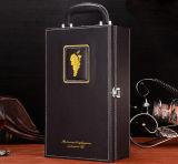カスタマイズされたPUの革二重か単一のワインボックス、ワインの包装のギフト用の箱