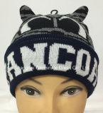 Шлем Beanie способа 100%Acrylic с шлемом жаккарда животным (HJB067)