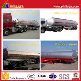 Reboque líquido químico resistente personalizado volume do transporte de petroleiro Semi
