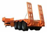 4 assen 100ton die de Lage Aanhangwagens van Lowbed van de Aanhangwagen van het Bed Semi laden