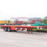 3 Oplegger van de Container van het Bed van de as de Vlakke 40FT