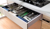 Gabinete de cozinha lustroso elevado UV do MDF da alta qualidade (ZX-006)