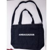 Saco personalizado para a promoção, saco de compra personalizado com impressão de seda, saco do algodão do algodão de Tote reusável do algodão