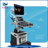 医療機器2D/3Dのトロリーカラードップラー超音波のスキャンナー