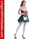 Halter женщин Oktoberfest сексуальный шнурует вверх Costume девушки пива
