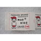 Escritura de la etiqueta impresa algodón lavable de la suavidad de la marca de fábrica de la ropa 100%