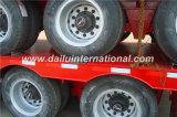 3-as toont het Lage Bed/de Semi Aanhangwagen van het Nut Lowboy met Verpakking