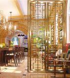 ローズの金装飾的な部屋ディバイダのステンレス鋼レーザーのカットシートスクリーンの区分