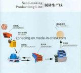 Sable faisant la chaîne de production