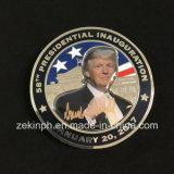인쇄된 스티커를 가진 주문을 받아서 만들어진 도전 동전