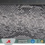 Synthétique de PVC d'impression de serpent/cuir/tissu de vente chauds de Rexine pour faire des sacs, cas, décoratif, chaussures, Ect