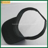 Chapéu promocional de visor de sarja de algodão de poliéster promocional (TP-0B025)