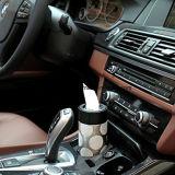 Casella del tessuto del supporto di tazza dell'automobile, contenitore cilindrico di tovagliolo di carta del veicolo, casella del tessuto per tutte le automobili