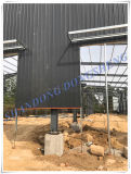 Atelier léger préfabriqué de structure métallique avec la grue
