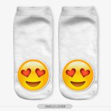 peúgas unisex ocasionais do tornozelo do corte do ponto baixo da cópia de 3D Emoji