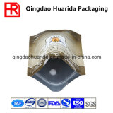 Sacchetto di plastica in piedi dell'imballaggio di alimento con la chiusura lampo e la valvola