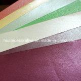 Vario papel de la melamina del color con el color metálico para los muebles