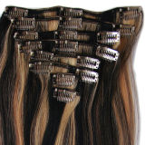 Human Hair Extensions에 있는 Hair Extensions Piano Color Clip에 있는 똑바른 Hair Clip