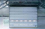 Автоматическая надземная секционная дверь для пакгауза