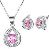宝石用原石の宝石類は925の銀製の宝石類の卸売をセットした