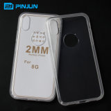 iPhone 8 이동 전화 상자를 위한 2mm 명확한 TPU 뒤표지