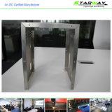 Подгонянное почищенное щеткой изготовление металлического листа нержавеющей стали