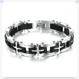 Silikon-Armband-Edelstahl-Schmucksache-Form-Armband (HR644)