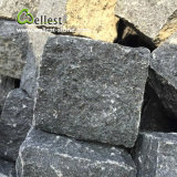 Черная подъездная дорога базальта Landscaping камень гранита кубика вымощая