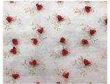 手動立体花の網の刺繍のレースファブリック