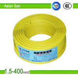 300/500V, PVC 450/750V a isolé le fil échoué du câblage cuivre BV/Bvr