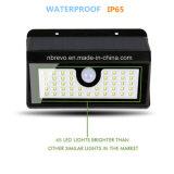 45 luz solar impermeável do jardim da segurança do diodo emissor de luz PIR (RS2014)