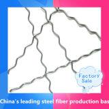 Wellenartig bewogene Stahlfaser (Edelstahl oder Kohlenstoffstahl), gewölbte Stahlfaser