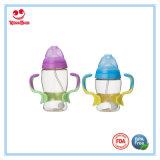 二重カラーハンドルが付いている耐熱性PPSUの赤ん坊の挿入びん