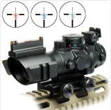 Portata prismatica superiore del fucile di 4X32 RGB con vista ottica della fibra Tri-Illuminata