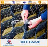 Пластмасса Geocell HDPE управлением размывания стабилизации предохранения от канала земная