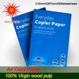 Papier-copie imperméable à l'eau de pâte de bois de 100% pour l'impression