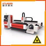Or et machine de découpage argentée de laser 500w 750w 1000w de laser de fibre de moteur servo de doublure de haute précision