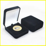 最上質の記念品の硬貨のための金によってめっきされる正方形の箱