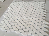 Плитка мозаик восьмиугольника Thassos белая мраморный каменная