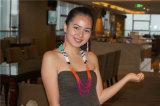 Ожерелье шариков способа цветастое с комплектом ювелирных изделий серег