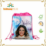 Fantasia e Adorable Cartoon Frozen, Printed Drawstring Shoes Backpack Bag