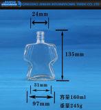 De creatieve Fles van de Wijn van het Flintglas van het Ontwerp met Uitstekende kwaliteit