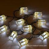 Da corda solar do partido de jardim do Lampshade do PVC de 15 diodos emissores de luz luz feericamente