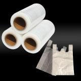 Película blanca del empaquetado plástico